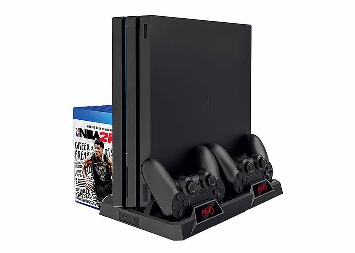 S-link SL-PS4 PRO Playstation 4 Oyun Kolları İçin İkili Soğutucu Fanlı Şarj İstasyonu