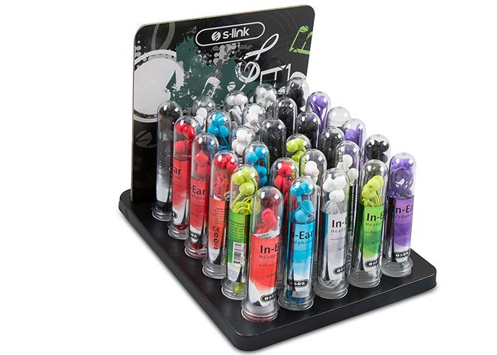 S-link SL-STK10 30lu stand set 8*Beyaz + 8*Siyah + 5*Krımızı 3*Mor + 3*Mavi + 3*Yeşil Kulak İçi Mikrofonlu Kulaklık