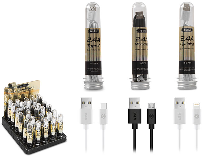 S-link SL-STP30 2.4A Fast Şarj 12xMicro 12xLightning 6xType-C 30lu Stantlı Kablo Seti