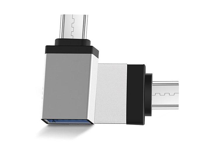 S-link SL-TAOTG25 Gümüş Metal Gövde USB F to MicroUSB M OTG Çevirici