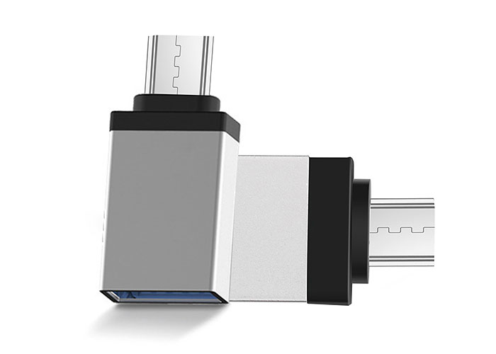 S-link SL-TAOTG25 Silver Metal Body USB F to MicroUSB M OTG Converter