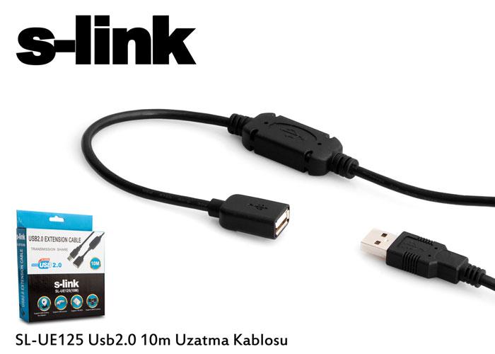S-link SL-UE125 Usb2.0 10m Uzatma Kablosu