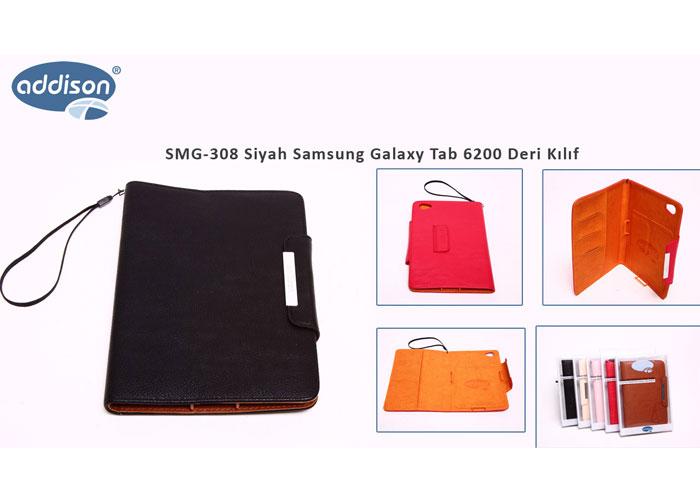 Addison SMG-308 Siyah Samsung Galaxy Tab 6200 Deri Kılıf