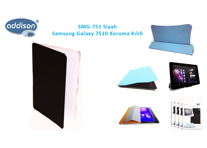 Addison SMG-751 Siyah Samsung Galaxy 7500 Tablet Pc Kılıfı