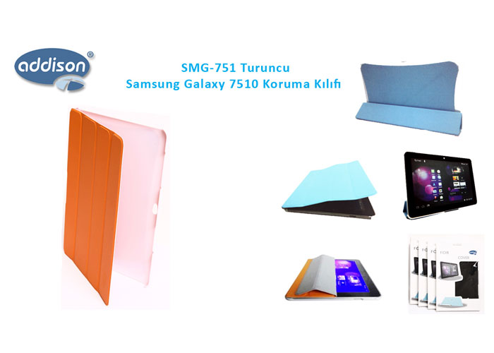 Addison SMG-751 Turuncu Samsung Galaxy 7500 Tablet Pc Kılıfı