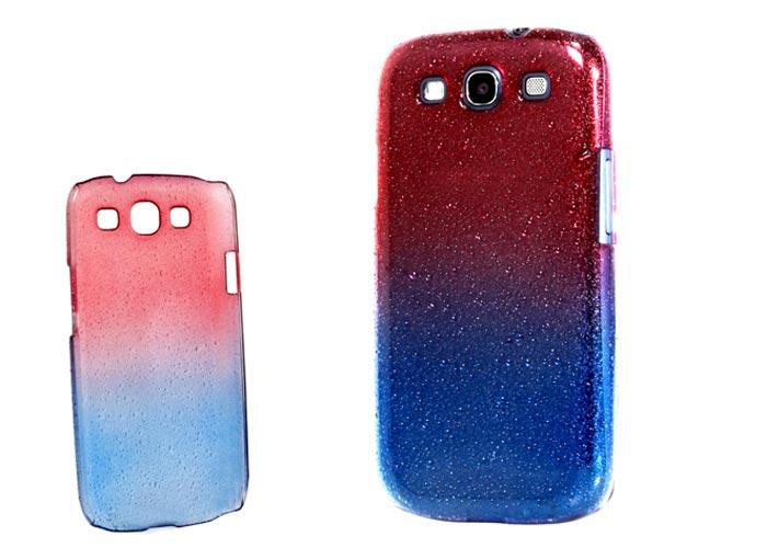 Addison SMG-438 Kırmızı/Mavi Su Damla Desenli Samsung Galaxy S3 Kılıfı