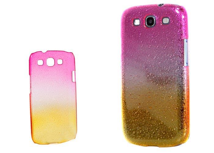 Addison SMG-438 Kırmızı/Turuncu Su Damla Desenli Samsung Galaxy S3 Kılıfı