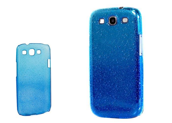 Addison SMG-438 Mavi/Mavi Su Damla Desenli Samsung Galaxy S3 Kılıfı