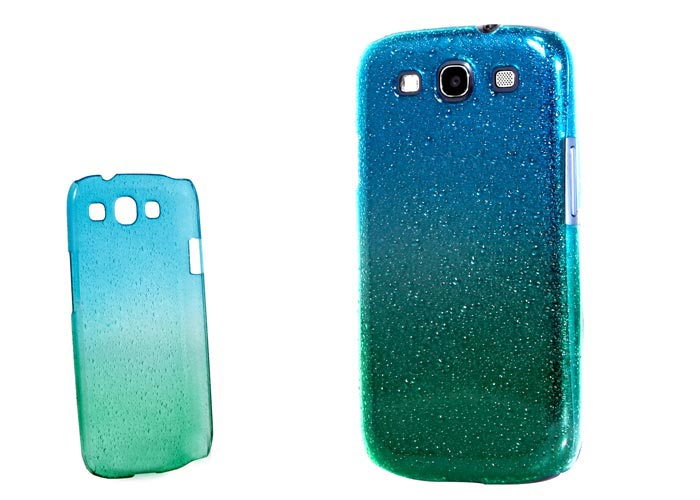Addison SMG-438 Mavi/Yeşil Su Damla Desenli Samsung Galaxy S3 Kılıfı