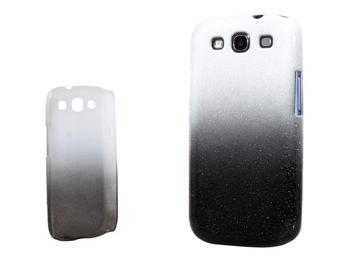 Addison SMG-438 Beyaz/Siyah Su Damla Desenli Samsung Galaxy S3 Kılıfı