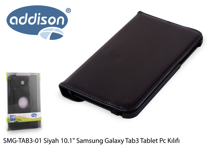 Addison SMG-TAB3-01 10.1 Siyah Samsung Galaxy Tab3 Tablet Pc Kılıfı