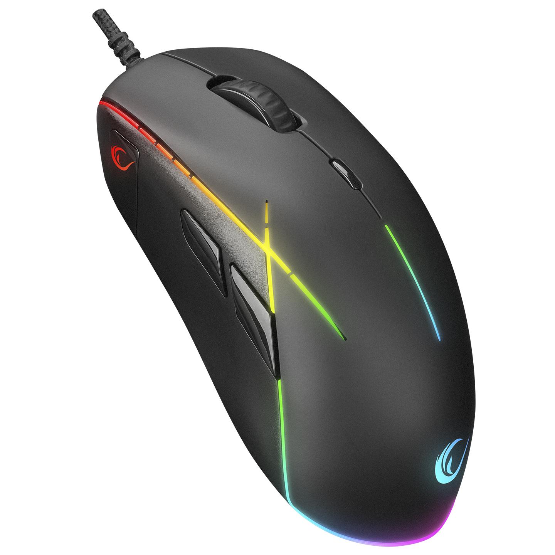 Rampage SMX-R115 GEAR-X 6400dpi Hareketli RGB Işıklı 9 Adet Makro Tuşlu Gaming Oyuncu Mouse