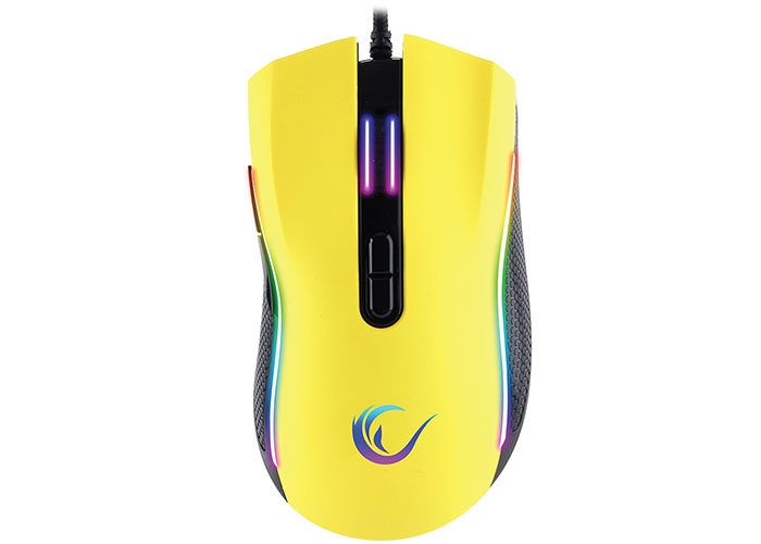 Rampage SMX-R44 Makrolu Sarı 6400dpi RGB Ledli Gaming Oyuncu Mouse