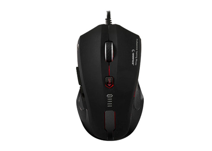 Rampage SMX-R5 Usb Glossy Metal 4000 Dpi With MACRO program Gaming Mouse