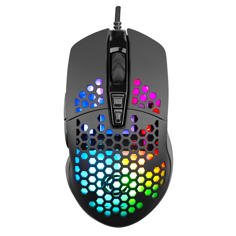 Rampage SMX-R64 COLMENA Usb Gri 6400dpi RGB Ledli 5Milyon Tık Gaming Oyuncu Mouse