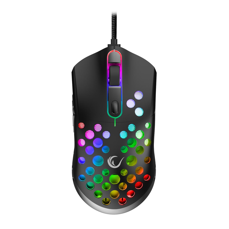 Rampage SMX-R66 ROCKET Ultra Hafif Siyah RGB Ledli 12000dpi Gaming Oyuncu Mouse