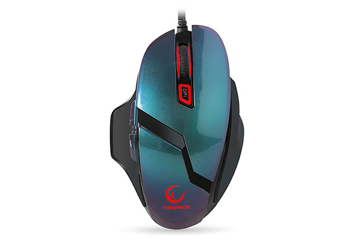 Everest Rampage SMX-R7S REVOLVER Usb Metallic Blue  10000 Dpi 6 Different Lights Macro Gaming Mouse