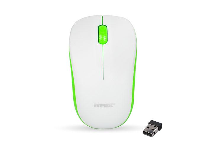 Everest SM-161 Beyaz/Yeşil 2.4Ghz Kablosuz Mouse