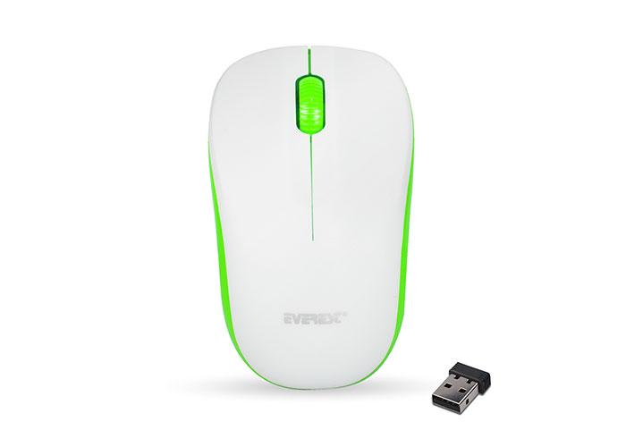Everest SM-165 Beyaz/Yeşil 2.4Ghz Kablosuz Mouse