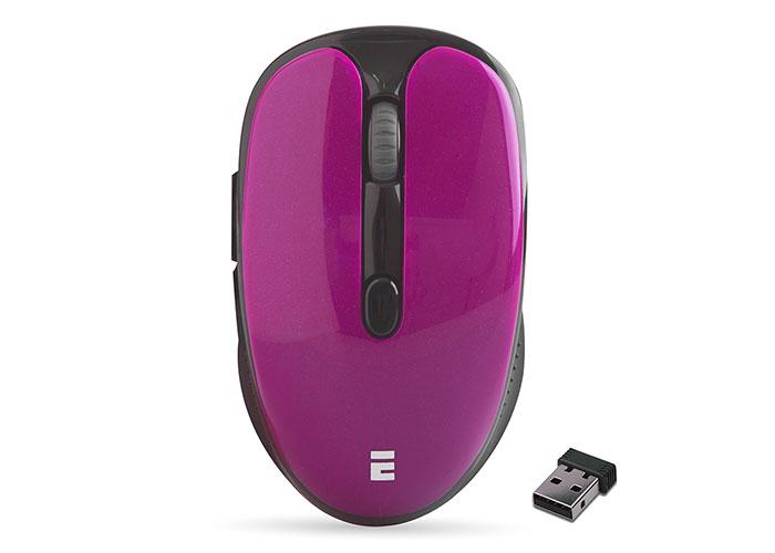 Everest SM-865 6D 1600dpi Alkalin Pilli Bordo Kristal Kutulu Kablosuz Sessiz Mouse