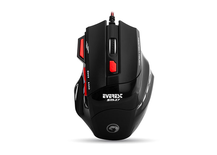 Everest SM-X7 Usb Black Gaming Mouse