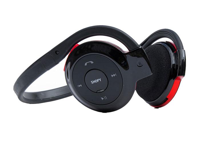 Snopy SN-500B Bluetooth Siyah/kırmızı Mikrofonlu Kulaklık