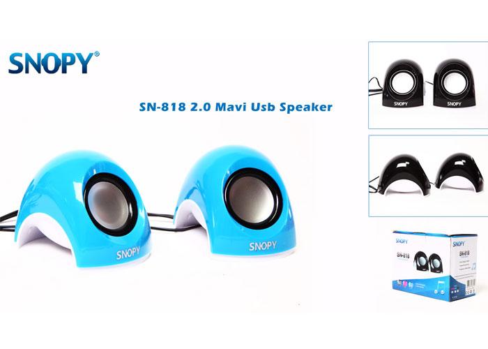 Snopy SN-818 2.0 Mavi Usb Mini Speaker