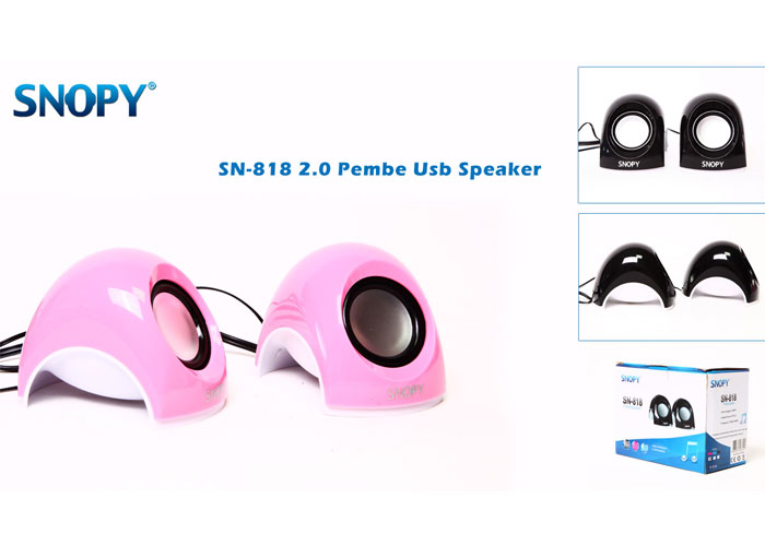 Snopy SN-818 2.0 Pembe Usb Mini Speaker
