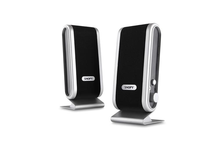 Snopy SN-820 2.0 Siyah/Gümüş Lcd İnce Tasarım USB Speaker