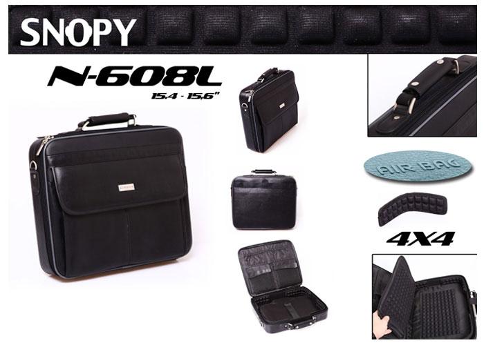 Snopy N608L 15.4-15.6 Siyah Deri Bilgisayar Notebook Çantası
