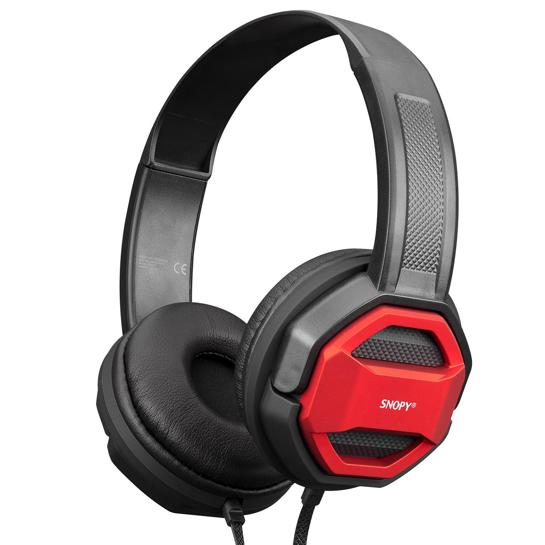 Snopy SN-101 BONNY Kırmızı PCTelefon Mikrofonlu Kulaklık