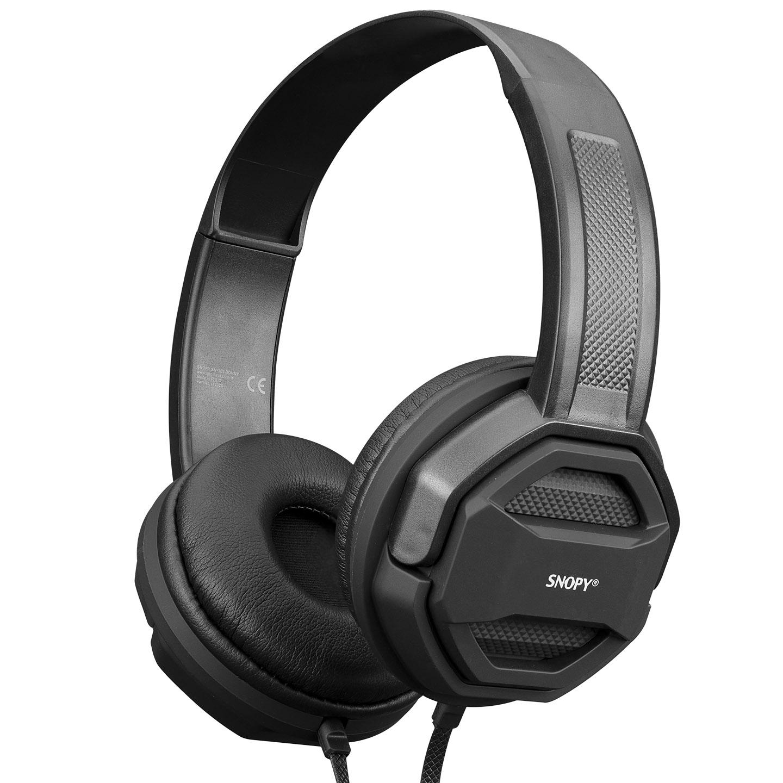 Snopy SN-101 BONNY Siyah PCTelefon Mikrofonlu Kulaklık