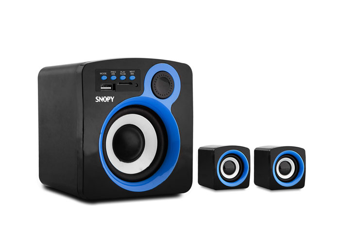 Snopy SN-1120 2+1 5W+3W*2 Black Usb+SD Supported Multimedia Speaker