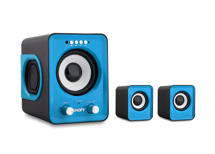 Snopy SN-1130 2+1 5W+3W*2 Mavi Usb+SD+Fm Destekli Multimedia Speaker