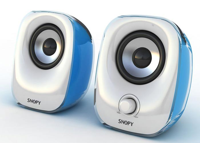 Snopy SN-11 2.0 3W*2 Beyaz/Mavi Usb Speaker