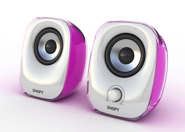 Snopy SN-11 2.0 3W*2 Beyaz/Pembe USB Speaker