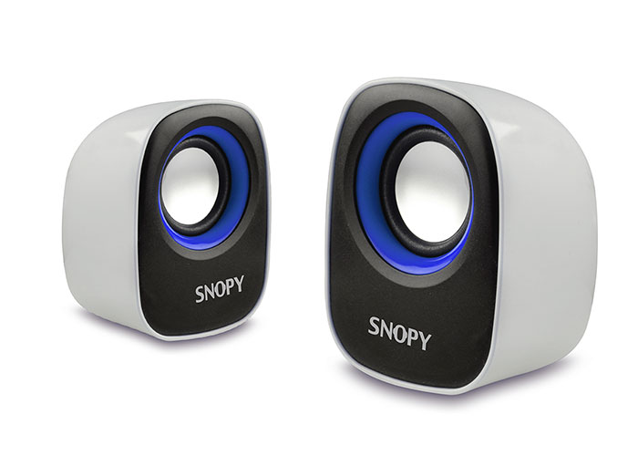 Snopy SN-120 2.0 Beyaz/Mavi USB Speaker