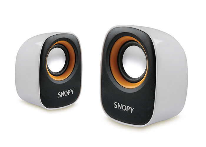 Snopy SN-120 2.0 White / Yellow USB Speaker