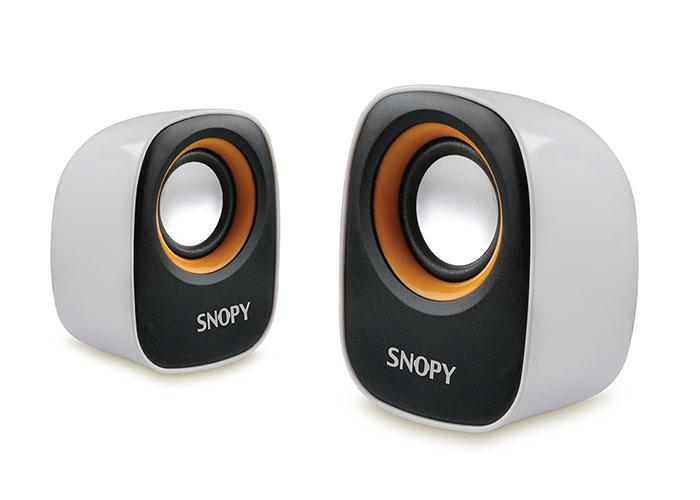 Snopy SN-120 2.0 Beyaz/Sarı USB Speaker