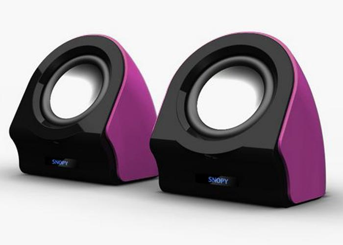 Snopy SN-13 2.0 3W*2 Siyah/Mor Usb Speaker