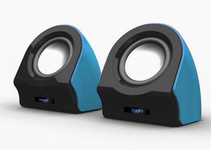 Snopy SN-13 2.0 3W*2 Siyah/Mavi USB Speaker