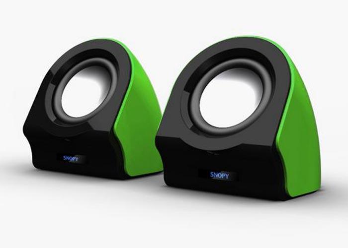 Snopy SN-13 2.0 3W*2 Siyah/Yeşil USB Speaker