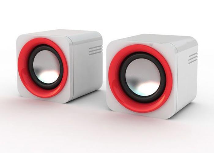 Snopy SN-14 2.0 3W*2 Beyaz/Kırmızı USB Speaker