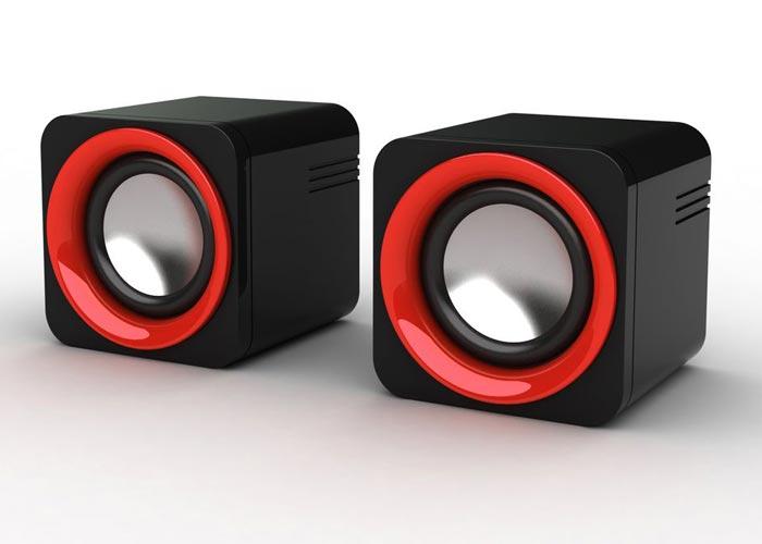 Snopy SN-14 2.0 3W*2 Siyah/Kırmızı USB Speaker