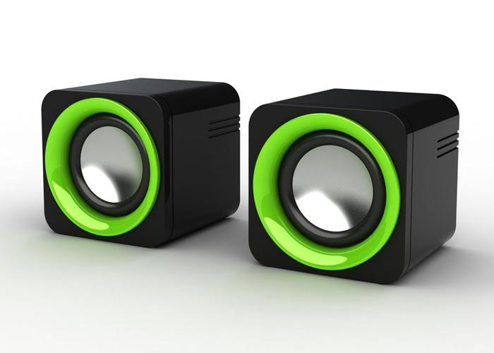 Snopy SN-14 2.0 3W*2 Siyah/Yeşil USB Speaker