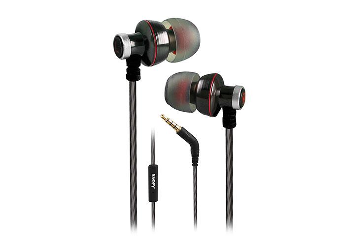 Snopy SN-204 Mobil Telefon Uyumlu Kulak içi Gun Metal Mikrofonlu Kulaklık