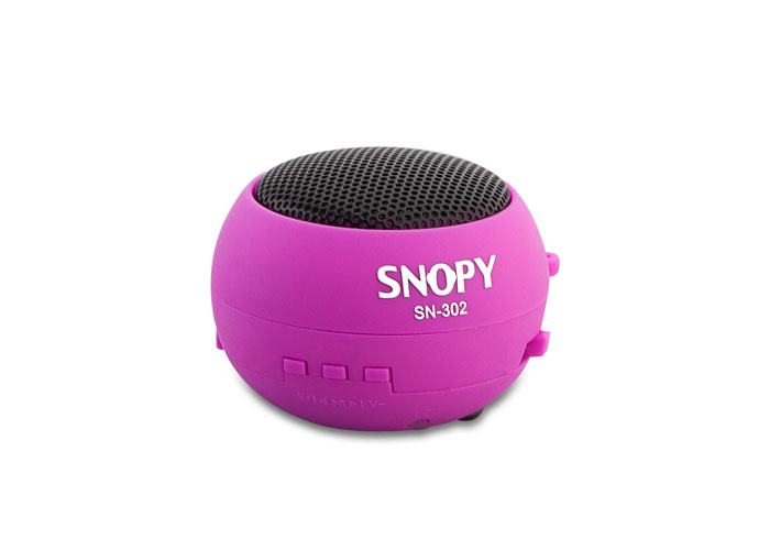 Snopy SN-302 Pink Micro SD Hamburger Mini speaker wıth amazing sound echo
