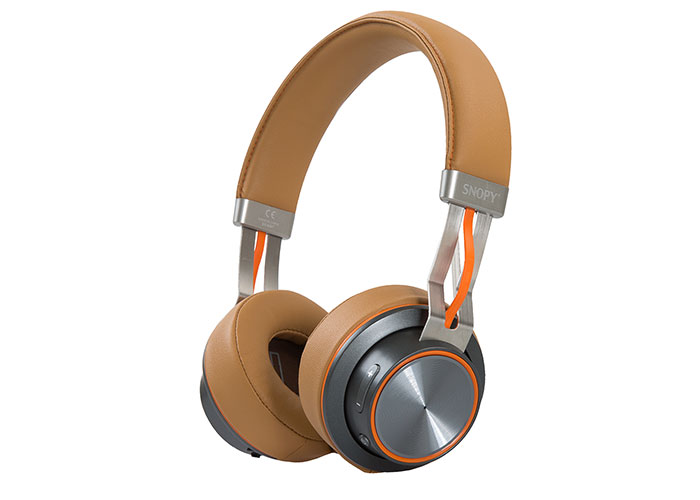 Snopy SN-44BT Modular Wired Bluetooth Brown Headset with Microphone