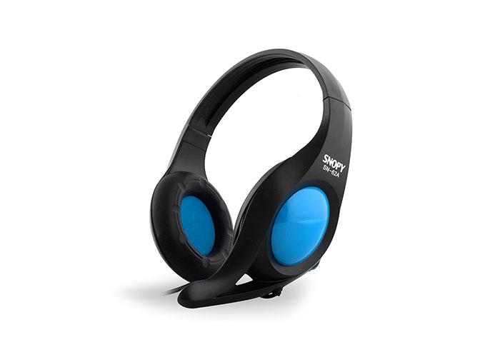 Snopy SN-62A Mavi Mikrofonlu Kulaklık
