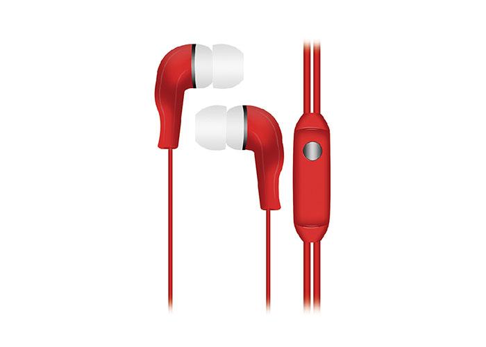 Snopy SN-777 CAPRICCIO MP3 Kulak İçi Kırmızı Mikrofon  Kulaklık